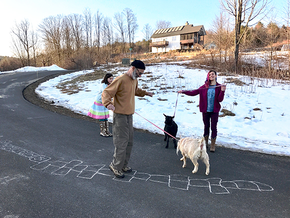 Spontaneous gatherings in cohousing happens at Stowe Farm Community
