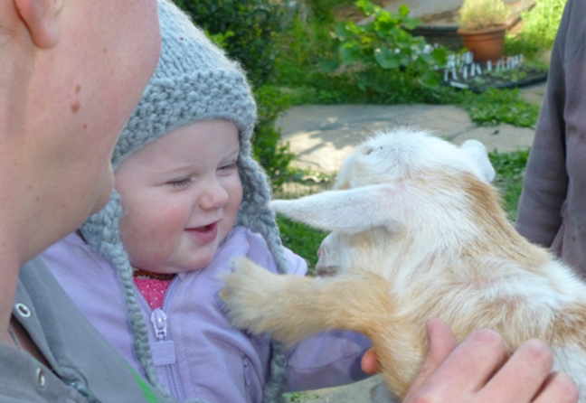 Maggie meets Charlotte at Stowe Farm