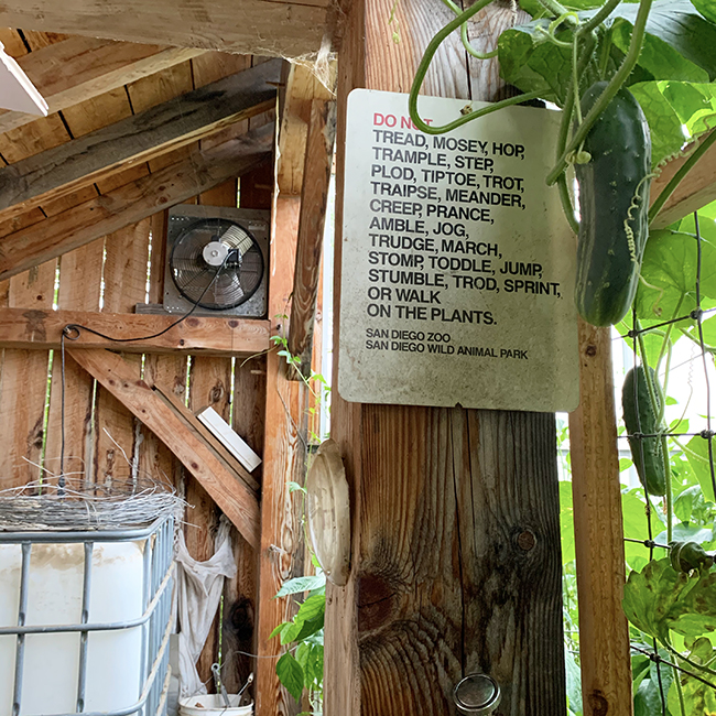 new Stowe Farm greenhouse fan